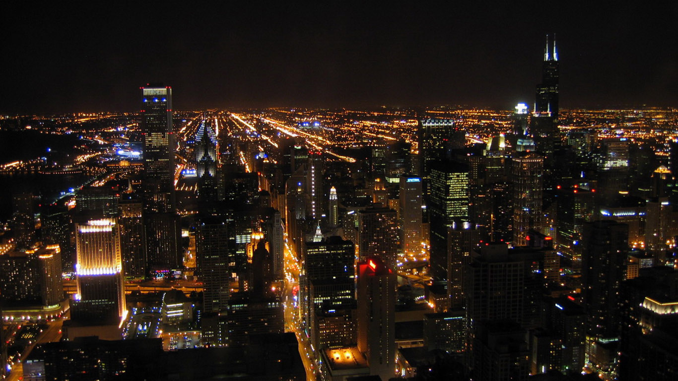 HDTV Widescreen City Night Scene Wallpapers 1366*768 NO.4 Wallpaper