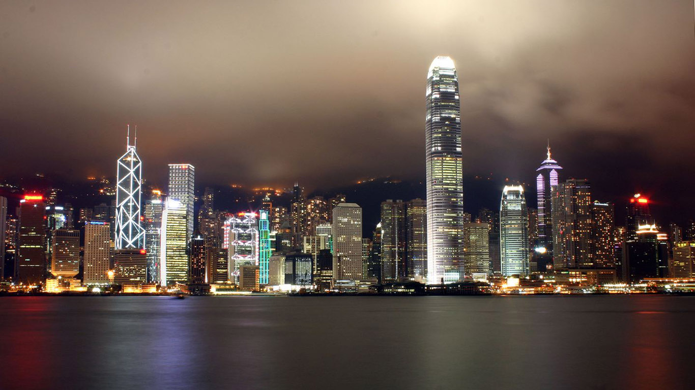 HDTV Widescreen City Night Scene Wallpapers 1366*768 NO.12 Wallpaper