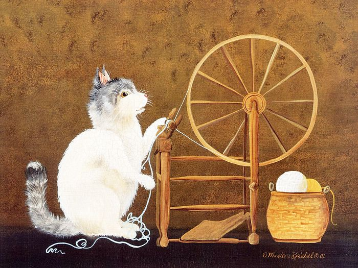 Funny Art Cats Paintings Kriebel Cat