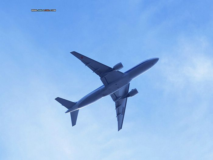 sky blue wallpaper. Airplane in Blue Sky