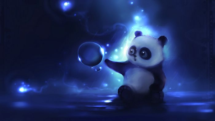 Super Cute Baby Panda, Panda Character Painting Wallpaper 6 - Wallcoo.net