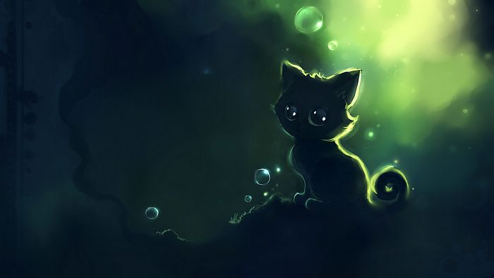 Adorable black kitty abstract painting wallpaper 9 for Cute abstract art