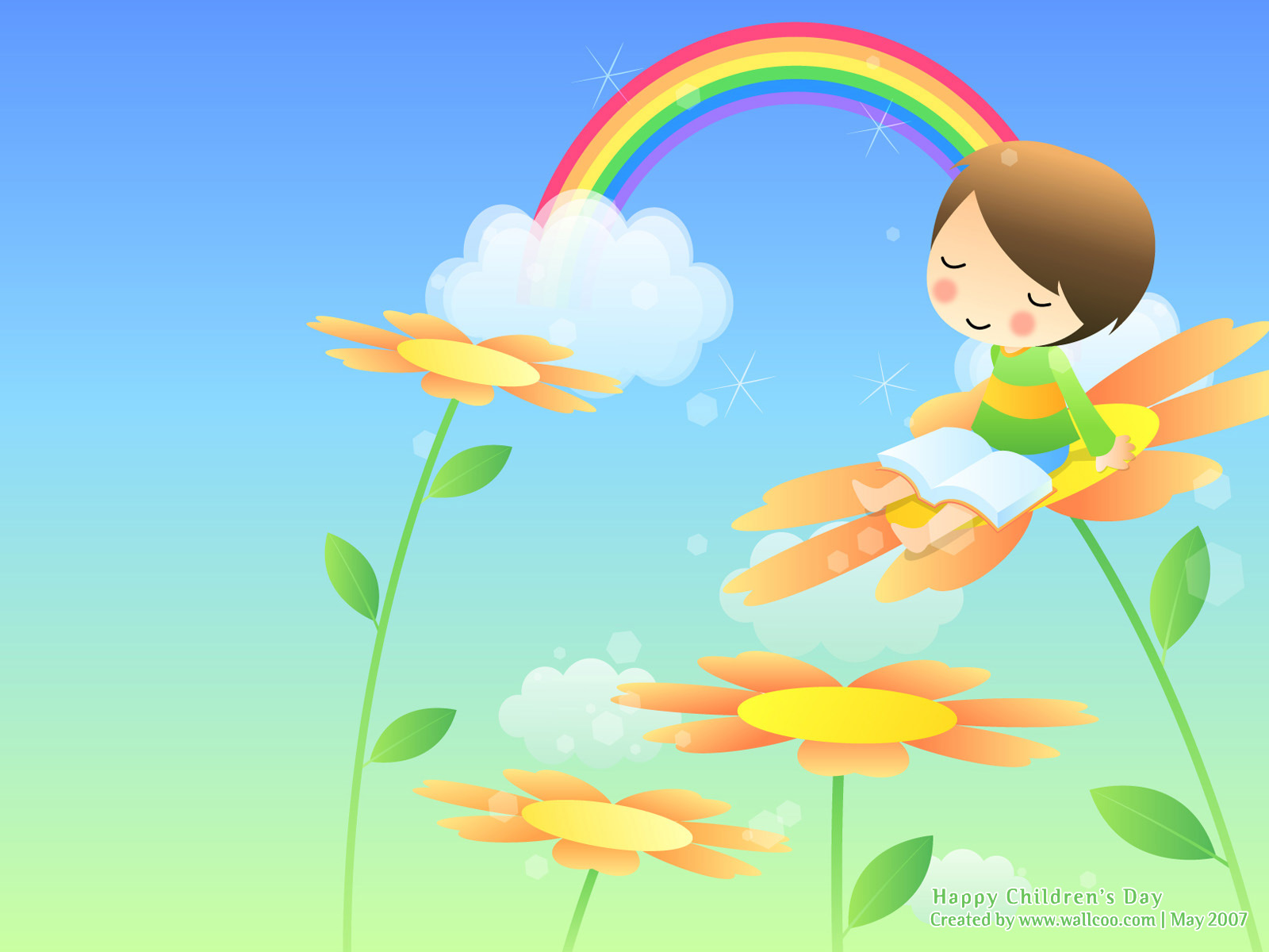 Happy Childhood   Colourful Illustrations For Children S Day 1600 1200