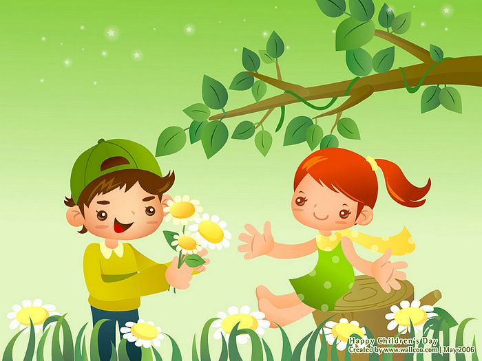 childrenss day illustrations lovely playpals vector illustration for childrens day 3