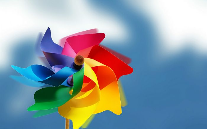 wallpaper of rainbow. Design - Rainbow Pinwheel