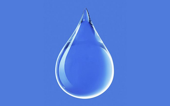 water drop cartoon. Pure Water Drop Wallpaper