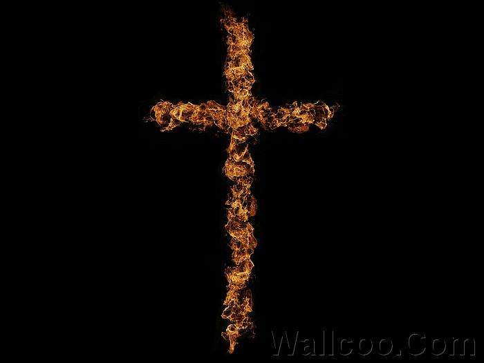 Realistic Fiery illustrations Wallpapers - A Fiery Cross - Fire Effect ...