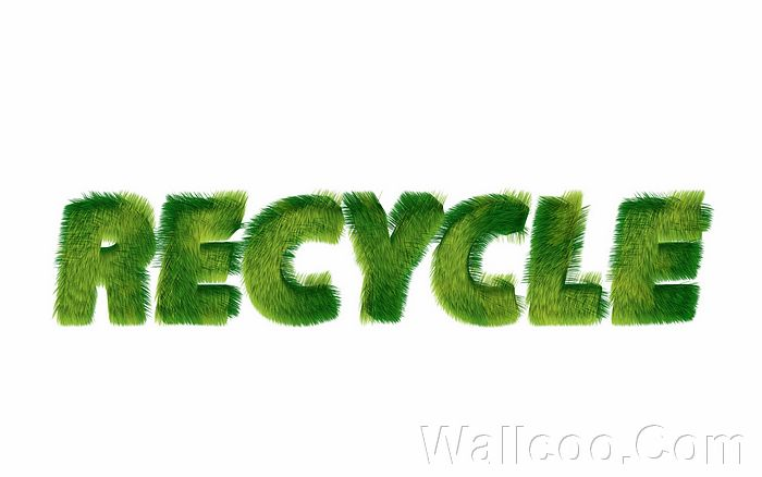 Grass Recycle Text Recycle Sign Design 192012004 Wallcoo