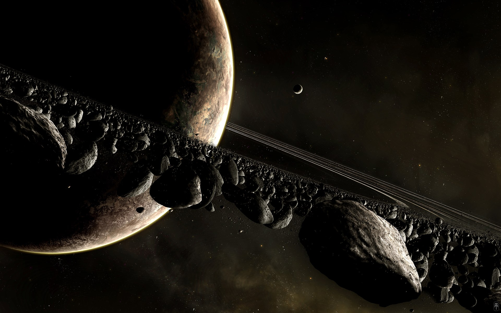 HD Digital art of Universe and  Universe Pictures With All Planets