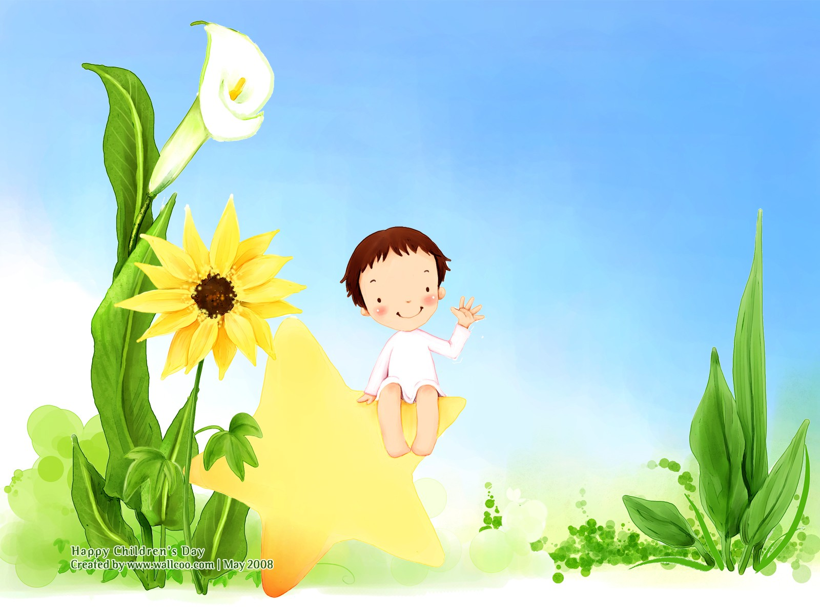Lovely illustration art for children's Day  1600*1200 NO.13 Wallpaper