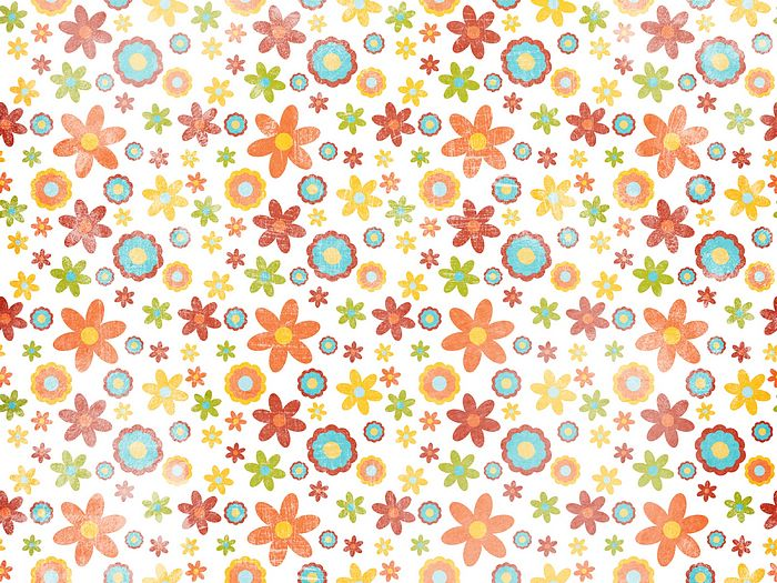 colorful flowers paper art background 5 wallcoo net