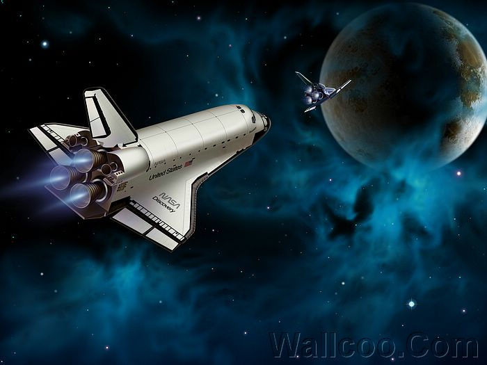Astronomical Art Nasa Discovery Space Shuttle In Mission