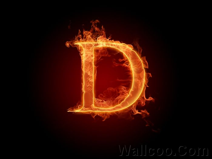 Realistic Fiery Letters and Numbers - Wallcoo net