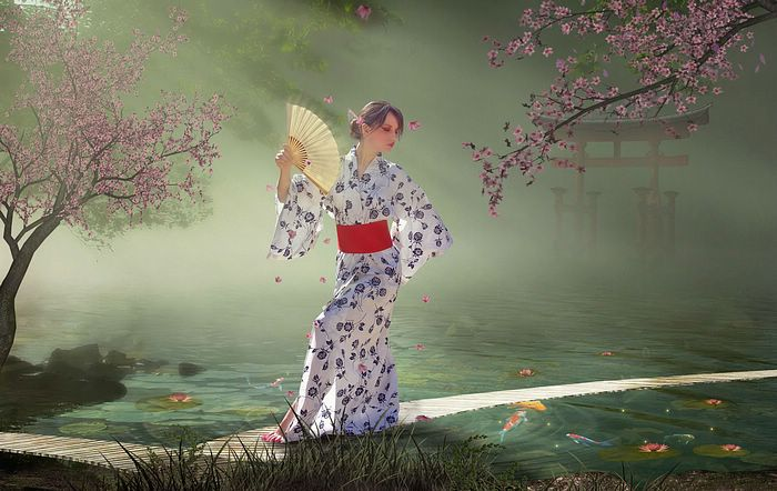 Fantasy Girls by Photo manipulation  - Japanese Geisha - Fantasy Girls by Photo Manipulation, 1920*1200 31