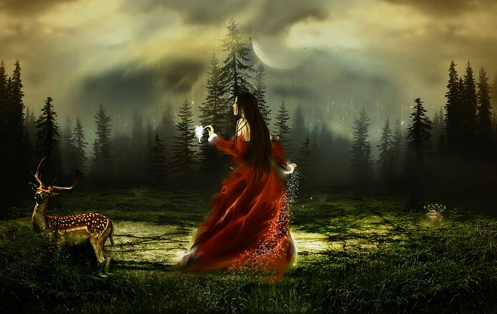 Fantasy Girls by Photo manipulation  - Beauty in forest - Fantasy Girls by Photo Manipulation, 1920*1200 13