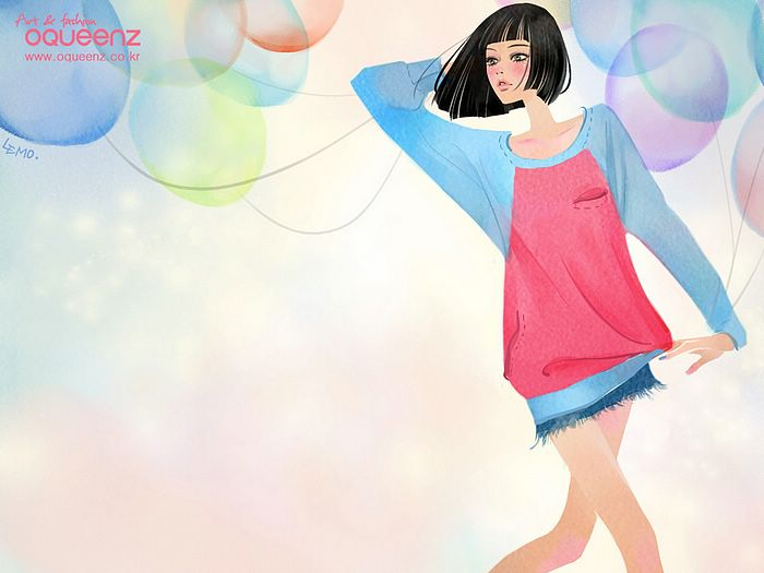 Fashion Illustrations : Korean Fashion Girl Wallpaper 58