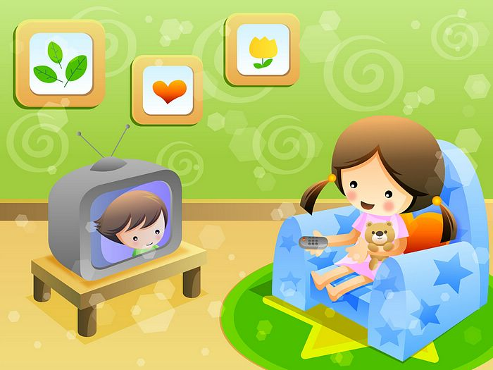 Clip Art Home Sweet Home. TV in Sweet Home、vector