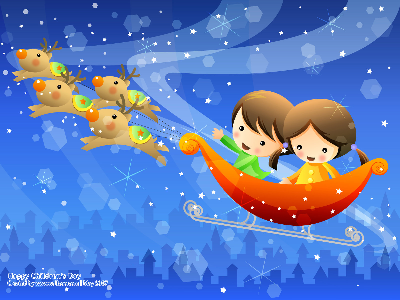 Colourful Illustrations for Children's Day 1600*1200 NO.10 Wallpaper