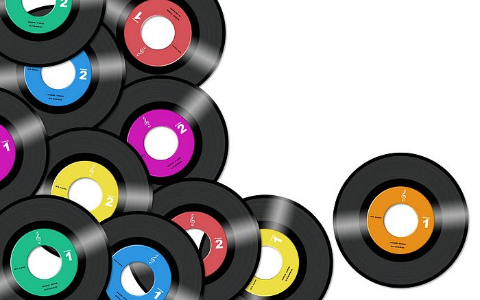 Creative Design : Colorful Music Discs Picture 30 ...