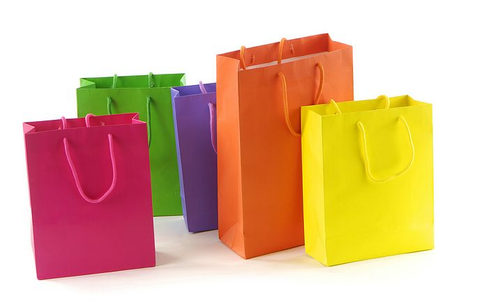 Shopping bags in different colours Picture 9 - Wallcoo.net