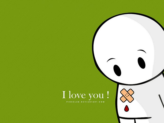 Wallpaper Of cute Love cartoon : morrwhatredown: wallpaper of i love you