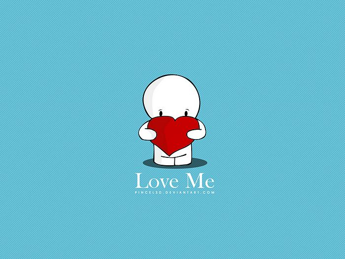 cartoon character Love Wallpaper : Love Me, Lovely Valentine s Day Wallpaper 19 - Wallcoo.net
