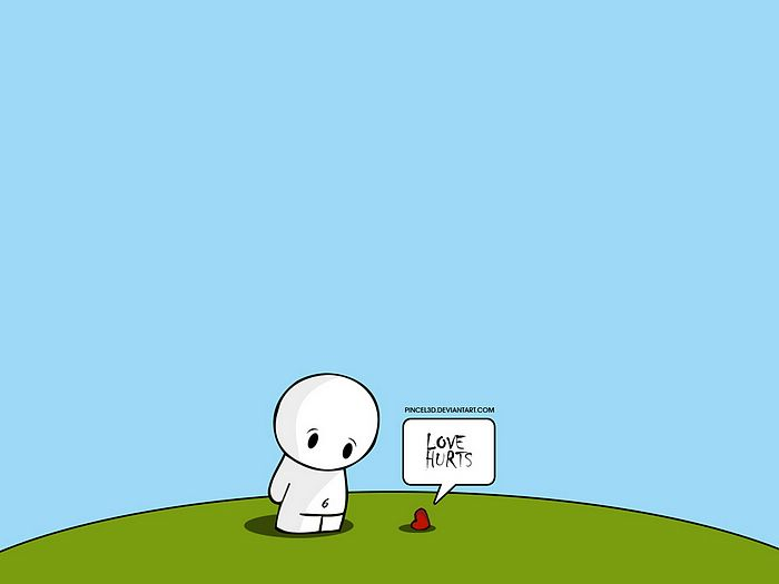 Sad Love Wallpaper cartoon : The gallery for --> Love Hurts Drawings