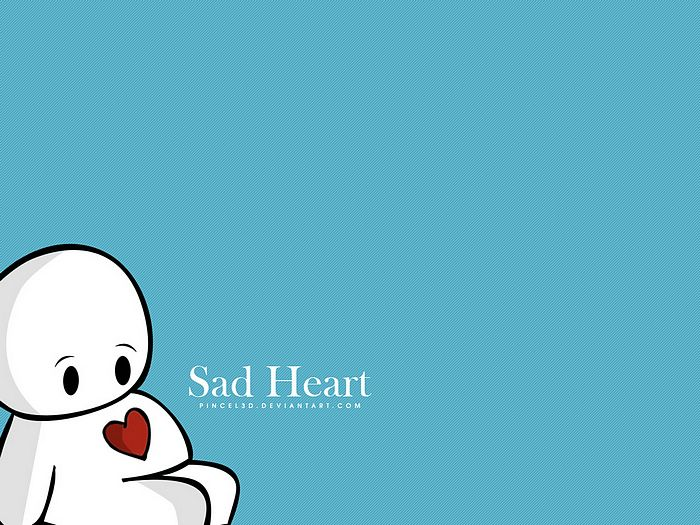 wallpapers sad. Lovely Valentine Cartoons By pincel3d - Sad Heart,Cute Valentine Vector