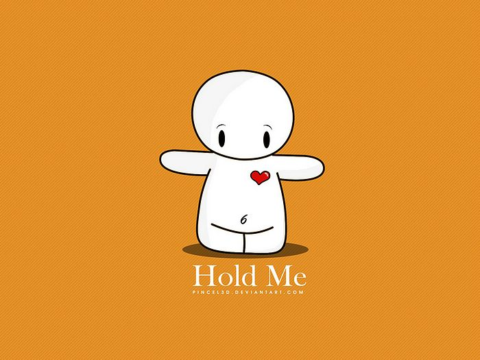 cartoon character Love Wallpaper : Hold Me, cute Valentine Vector character 10 - Wallcoo.net