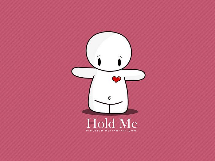 Lovely Valentine Cartoons By Pincel3d   Hold Me, Cute Valentine Vector  Character 11