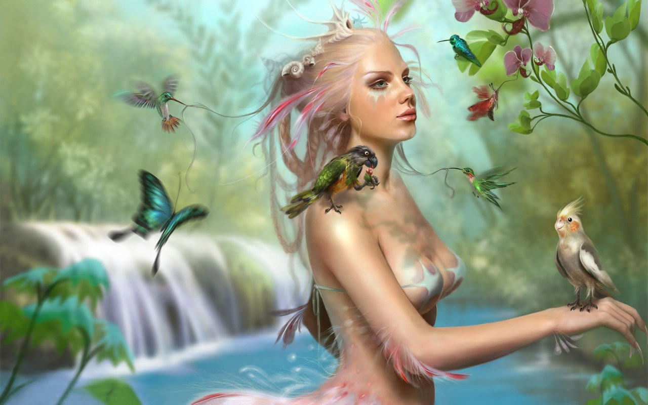 3D Fantasy Art Girls Wallpapers