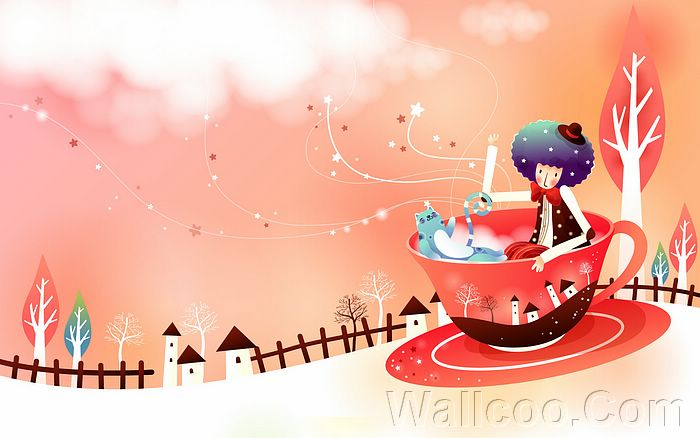 wallpaper cartoon korean. Four Season Fun in Cartoon