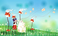 Vector illustrations �� Four Season Fun in Cartoon Wonderland40 pics