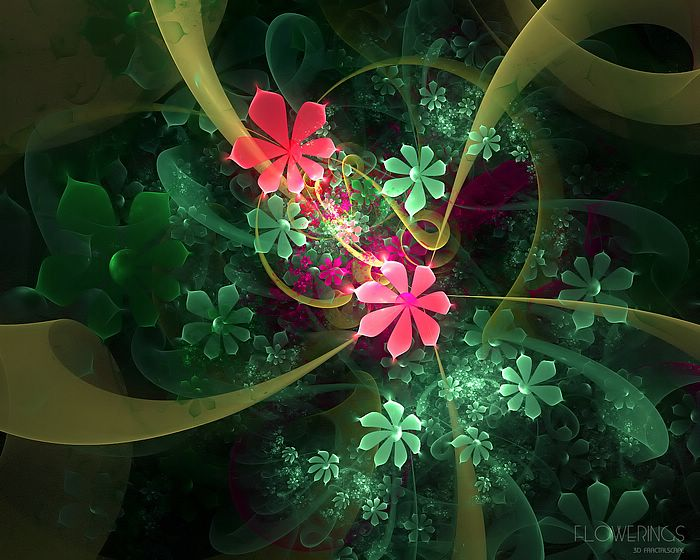 wallpapers of flowers garden. Fractal Flowers - Abstract