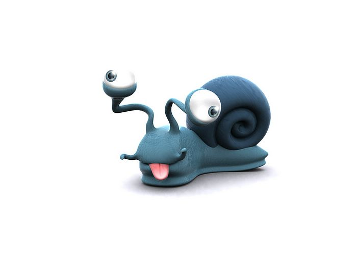 Funny 3D Animal Cartoons - 3D Snail - Funny 3D Cartoon Snail Wallpaper ...