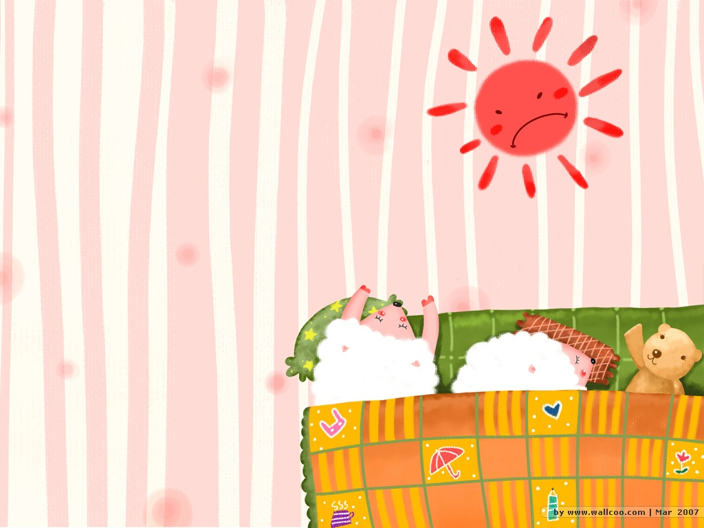 Sweet Children's Illustration : Good Morning 1024*768 NO.1 Wallpaper