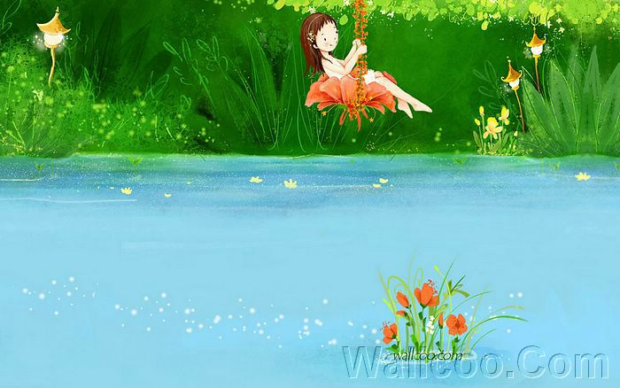 wallpaper cartoon cute. Cartoon Cute Fairy Girl -