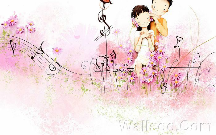 wallpaper love couple. Puppy Love - Sweet Couples