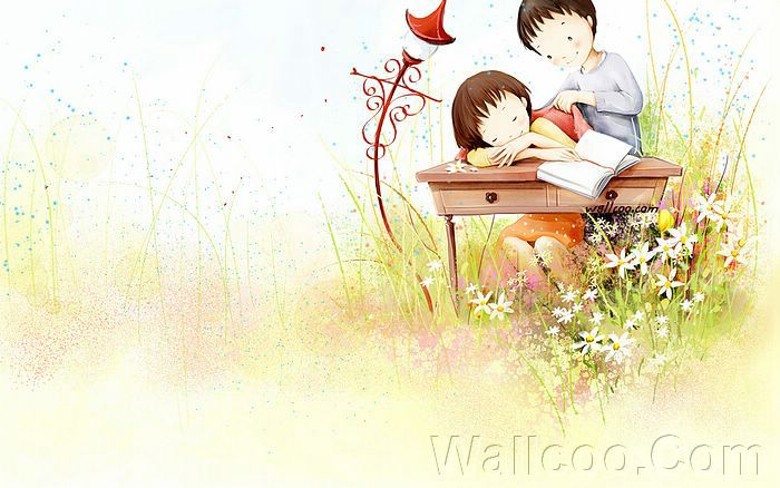 cute cartoon images of love. Kim Jong Bok Illustrations(Vol.04) : Sweet Puppy Love - Puppy Love