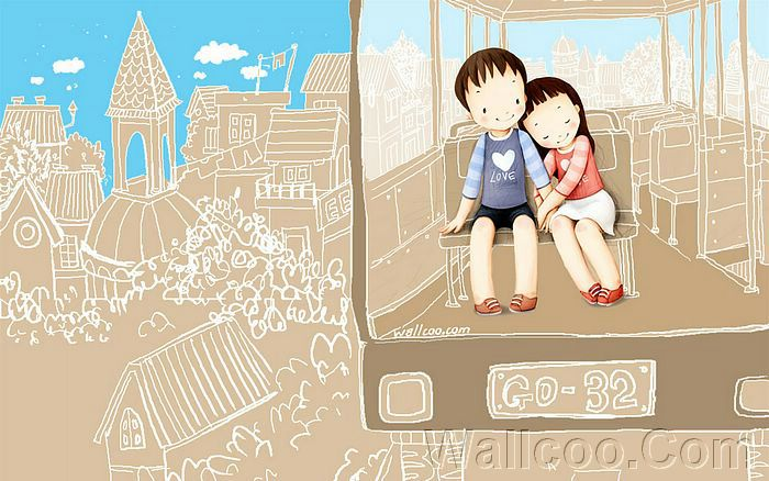 Love Wallpapers Cartoon. Couples Cartoon Wallpaper
