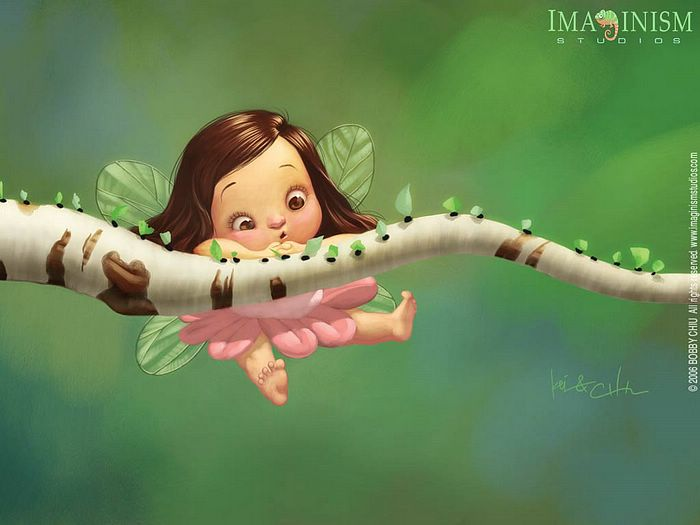 Funny Illustration Art By Bobby Chiu   Cute Little Fairy And The Ants