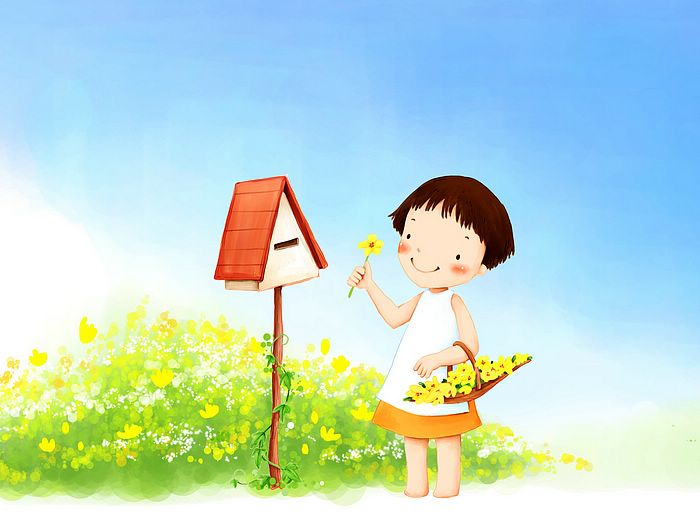 wallpaper cartoon korean. Girl Cartoon, Korean Art