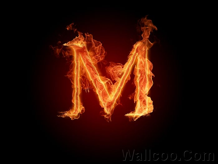Fiery Font. Letter M - Burning Letters A-Z Picture,1920*1200 13