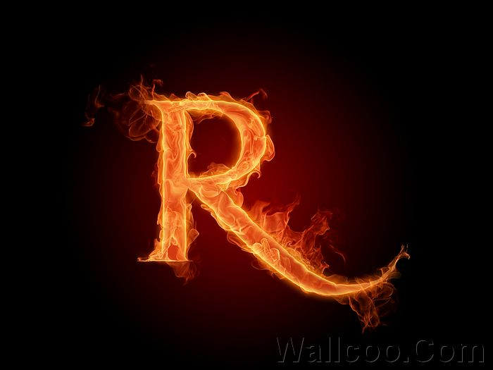 ... Fiery Letter R - Fire Aphabets, Fire Letters A-Z, Pictures Wallpapers