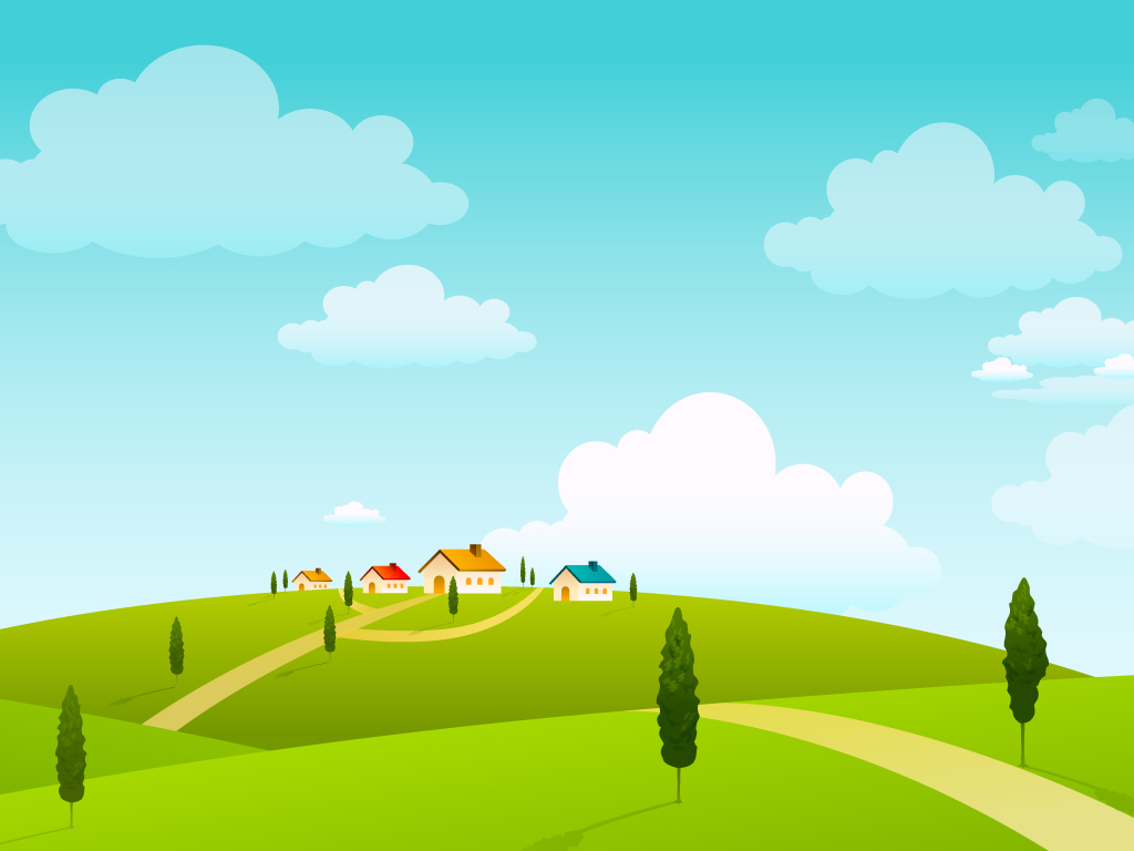 vector cartoon landscape backgroundsfree - photo #46