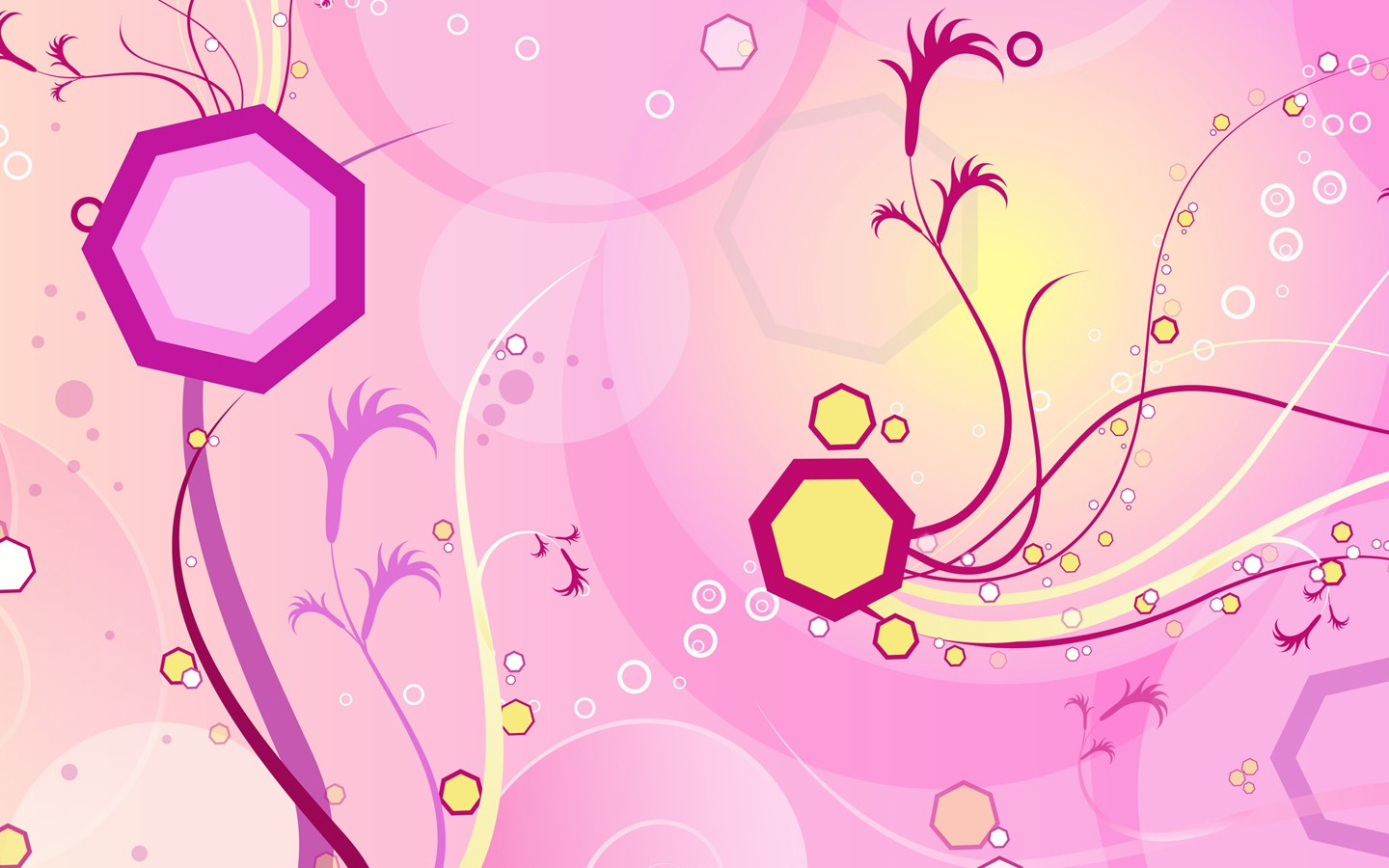 ... Art : Vector Flower Patterns Background 1440*900 NO.22 Wallpaper