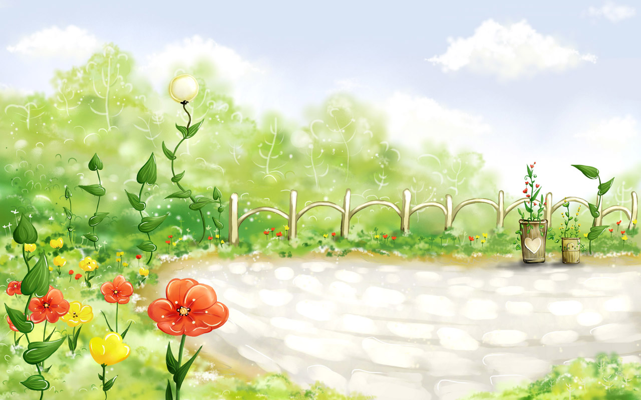 Spring Fairyland Wallpaper For Laptop Puters & Notebook