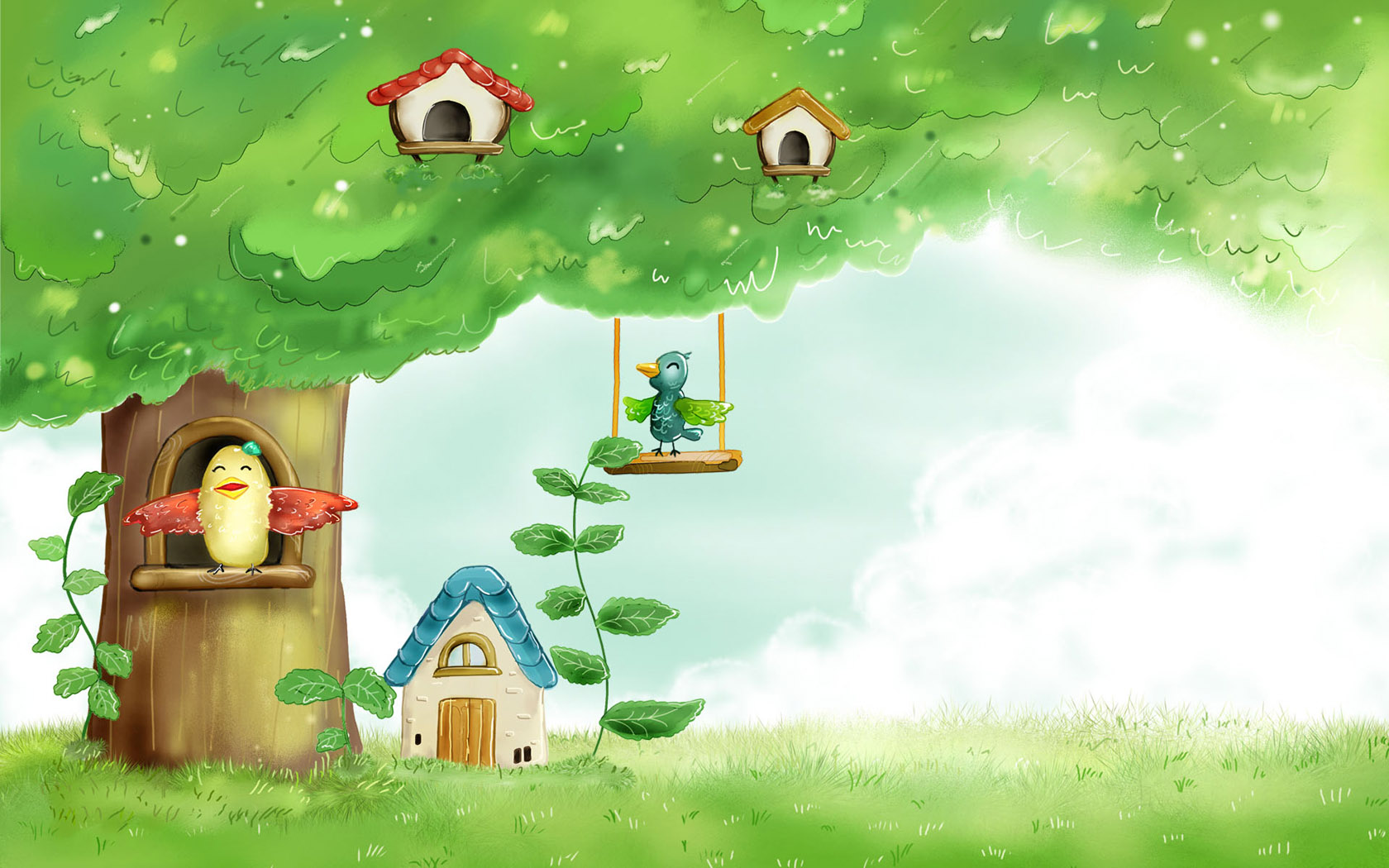 Spring Fairyland Wallpaper For 21-Inch Widescreen LCD