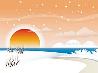Snowy Winter - Vector Winter Landscapes20 pics