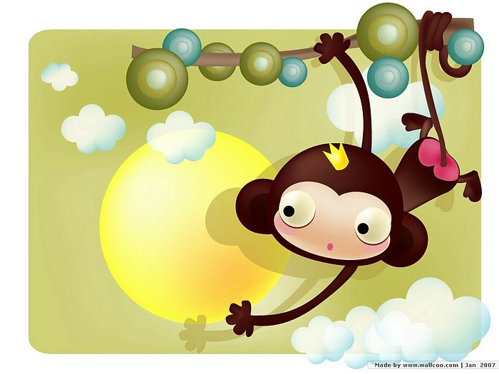 monkey cartoon wallpaper - photo #15